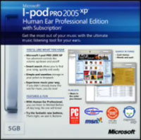 the Microsoft iPod package